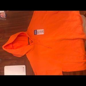 Orange Hanes Hoodie
